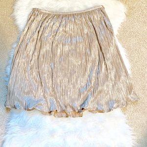 Flowy metallic Antonio Melani pleated skirt